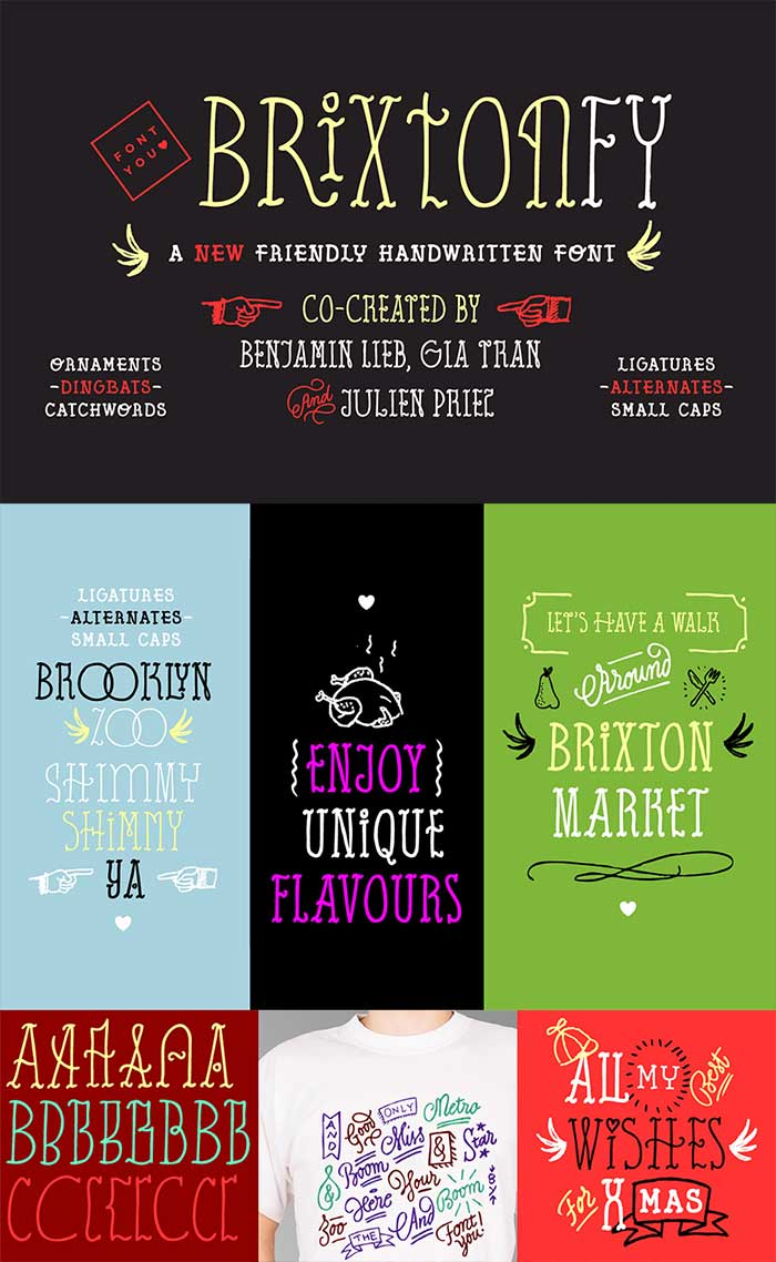 Brixton FY: part of the 30 fonts for $39 bundle!