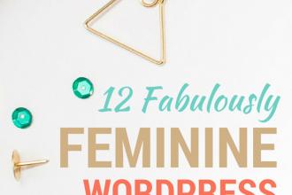 12 Fabulously Feminine WordPress Themes at DesignYourOwnBlog.com