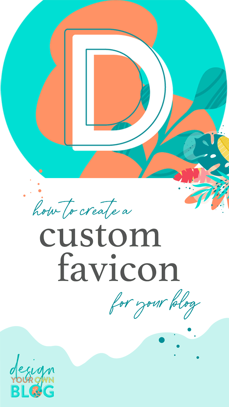 Tutorial: How to create a custom favicon for your blog. Learn to design and create a favicon today!