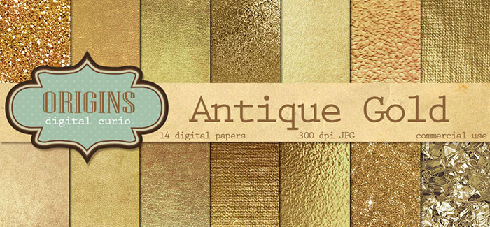 Tutorial: How to add a golf leaf or glitter texture to your blog graphics. Add it to text, shapes, icons or patterns! Super easy!! Plus download my free gold foil and gold glitter social media icon sets! Antique Gold Textures Digital Paper by Origins Digital Curio. Check it out on www.designyourownblog.com!