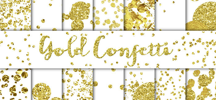 Tutorial: How to add a golf leaf or glitter texture to your blog graphics. Add it to text, shapes, icons or patterns! Super easy!! Plus download my free gold foil and gold glitter social media icon sets! Gold Confetti Overlays/Backgrounds by Studio Denmark. Check it out on www.designyourownblog.com!
