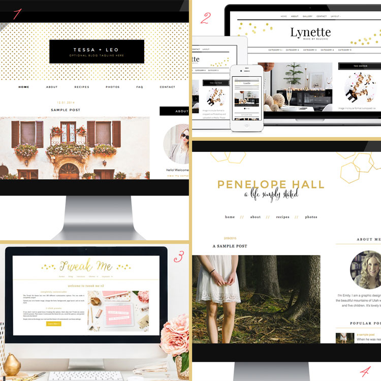 Gold is a blog design trend for 2015. See more trends at www.DesignYourOwnBlog.com!
