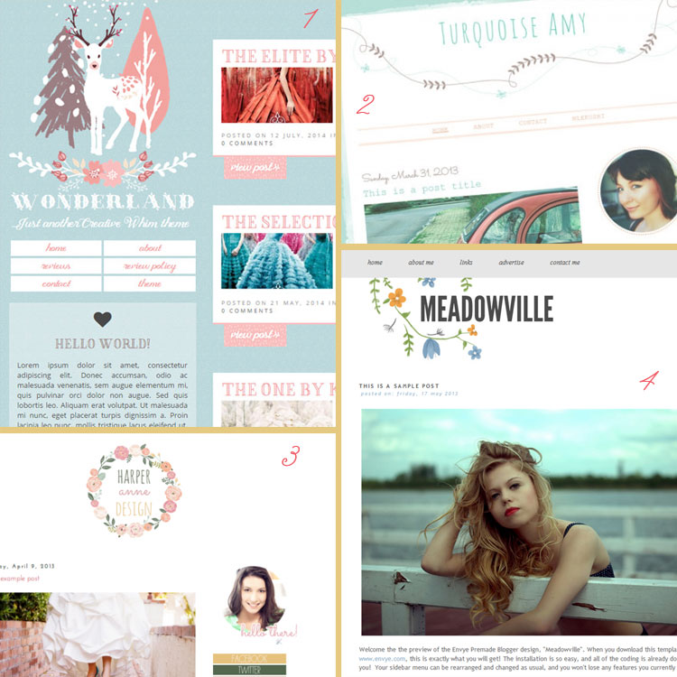 Hand-drawn and illustrated is a blog design trend for 2015. See more trends at www.DesignYourOwnBlog.com!