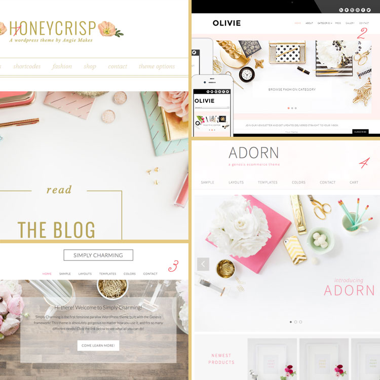 Styled Desktops are a huge blog design trend for 2015. See more trends at www.DesignYourOwnBlog.com!