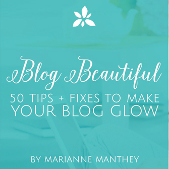 Blog Beautiful: 50 Tips to Make Your Blog Glow. A blog design ebook from DesignYourOwnBlog.com