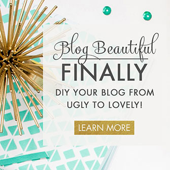 Blog Beautiful: 50 Tips to Make Your Blog Glow. A DIY blog design ebook from DesignYourOwnBlog.com