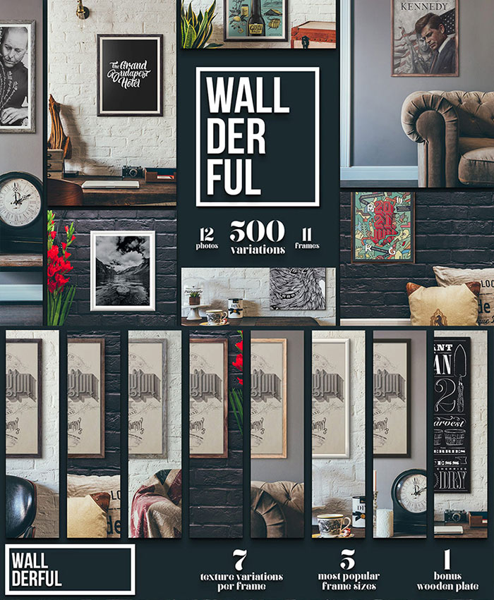 Wallderful Scene Mockups are part of the Design Cuts Graphics Bundle for 91% Off!