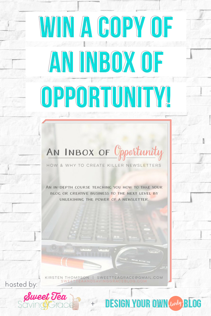 Win a copy of inbox of opportunity today only! Learn to set up a mailing list and create killer newsletters fast!
