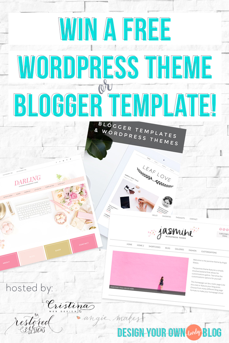 Relaunch party giveaway day 4 design your own lovely blog for Create your own wordpress theme from an html template