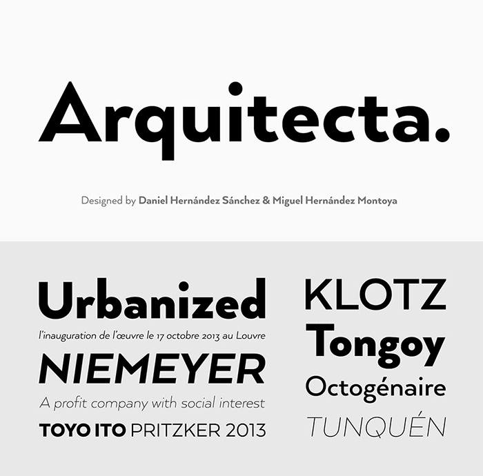 Typographer's Dream Bundle includes 33 fonts for $29, save 99%! Includes this awesome sans-serif Arquitecta font.