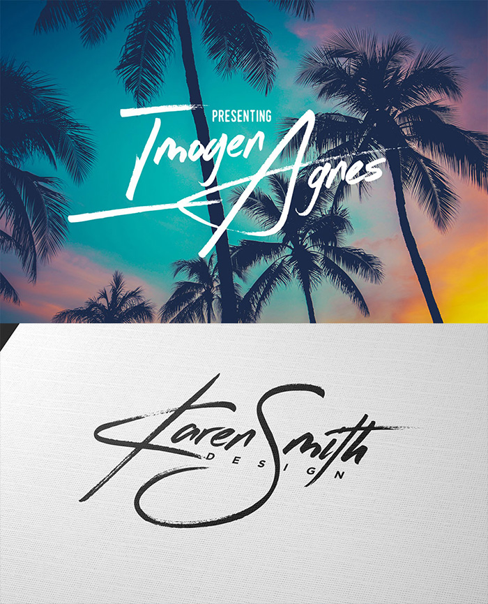 Typographer's Dream Bundle includes 33 fonts for $29, save 99%! Includes this gorgeous hand-made script font, Imogen Agnes, perfect for signatures.