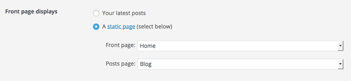 How to create a static home page in WordPress. Part of the 5 part series on How to Start a (lovely) Blog on the Cheap