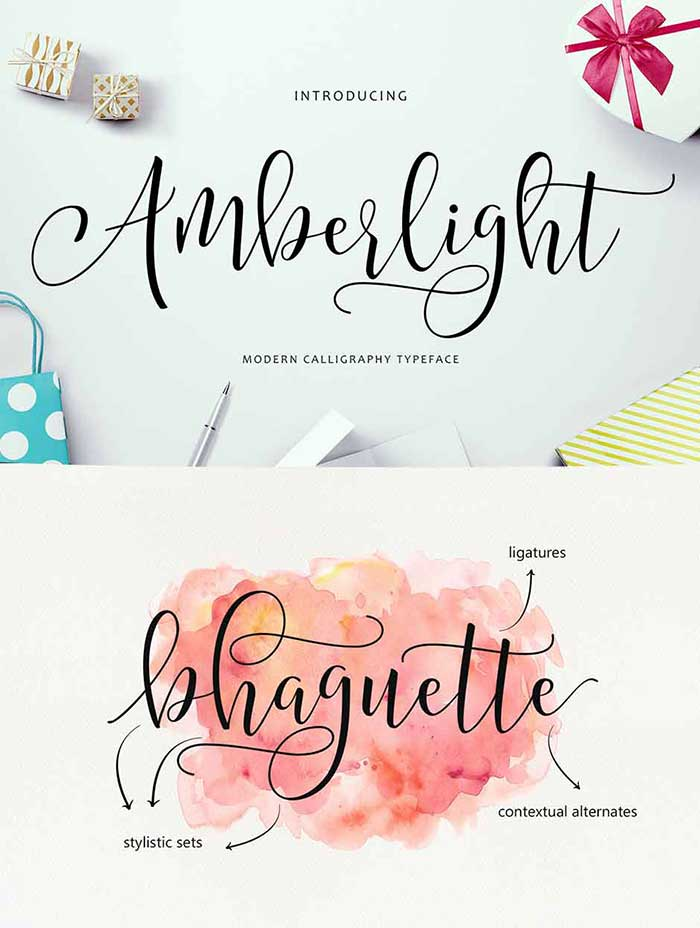 Amberlight Script font from Get Studio is 1 of 20 professional fonts you can get for just $29!