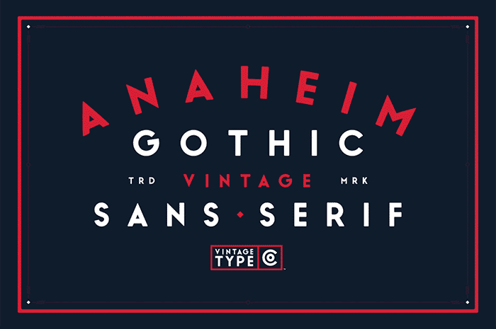 Anaheim Gothic sans serif font from Vintage Type Co. is 1 of 20 professional fonts you can get for just $29!
