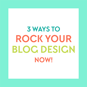 Free download >> 3 Ways to ROCK Your Blog Design Now! A free ebook from www.DesignYourOwnBlog.com. Get the book that started it all! 3 super helpful, actionable and in-depth tips to help you beautify your blog right now.  In this 40 page guide, you'll learn about: typography, color, and how to avoid a useless sidebar!
