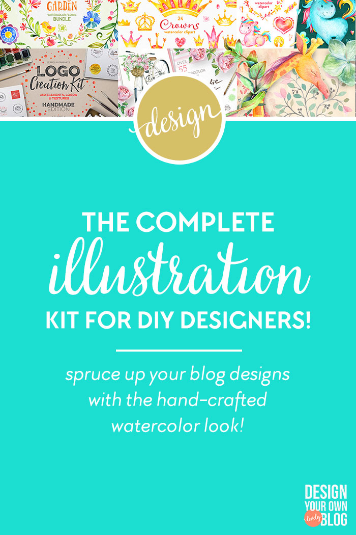 Hand-crafted illustrations bundle! TONS of Watercolor designs and graphics! Full licensing included. Grab yours before it's gone! Floral folk hand-painted hand-drawn handmade birds flowers laurels magic unicorns confetti glitter gold silver metallic sequins logo creation kit penguins zoo animals washi tape indigo dream catchers ethnic boho hipster tribal aztec cruiser bike bicycles flower baskets