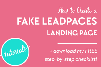 How to offer content upgrades with a fake LeadPages landing page using ConvertKit and a free WordPress plugin! Check out the full tutorial and get your free checklist on www.DesignYourOwnBlog.com/fakeleadpages!