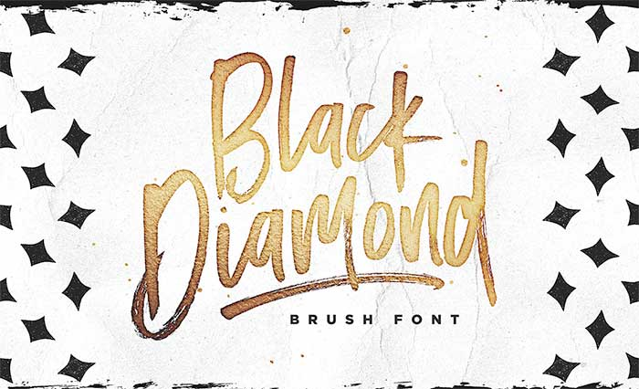 Black Diamond by Sam Parrett, a beautiful hand-drawn, handwritten font. One of the font types I recommend for feminine designs in this roundup of 9 feminine font trends for 2016.