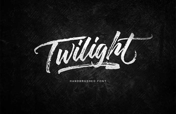 Twilight Hand-drawn Brush Script by Get Studio. See more ideas for feminine fonts for your blog in 2016.