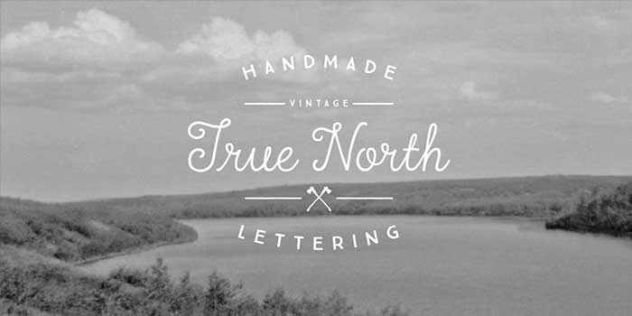 True North by Cultivated Mind, a rustic, grunge, hipster font for your organic, hand-made designs and blogs. One of the font types I recommend for feminine designs in this roundup of 9 feminine font trends for 2016.