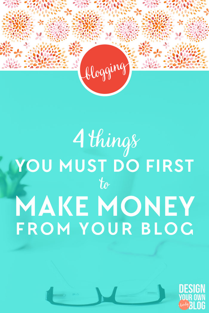 "4 Things You Must Do First to Make Money from Your Blog. It's not enough to just throw ads and affiliate links up. There are 4 very important things you must do first if you want to succeed at making money from your blog. photo credit: <a href=""http://www.creativeconvex.com/"" target=""_blank"">Creative Convex</a>"