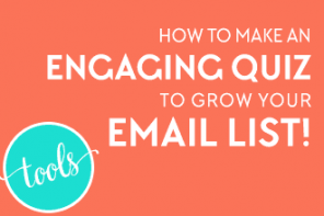 Want to grow your email list in a fun and unique way? Create an engaging quiz that your readers and followers will love and share. It could go viral! Click to see how you too can create a quiz that will grow your email list! From www.DesignYourOwnBlog.com