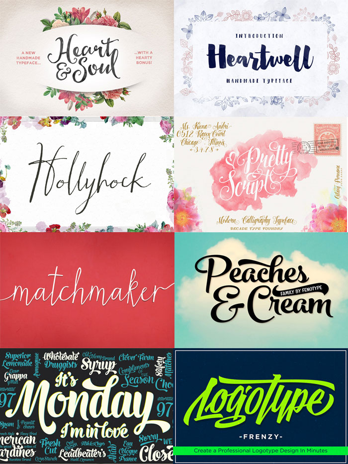 22 Best Selling Gorgeous Fonts (With Web Fonts and Extended Licensing) Just $29 - script fonts