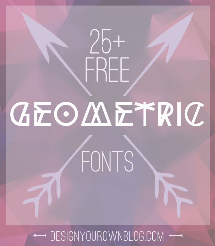 Free tribal geometric display fonts for your hipster
