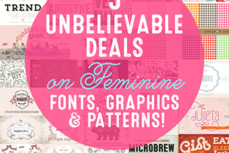 5 Unbelievable Deals on Feminine Fonts, Graphics and Patterns! Don't miss out before this ends Nov. 10, 2014!