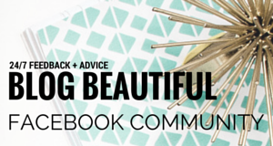 Join the DYOB: Blog Beautiful Facebook Community!