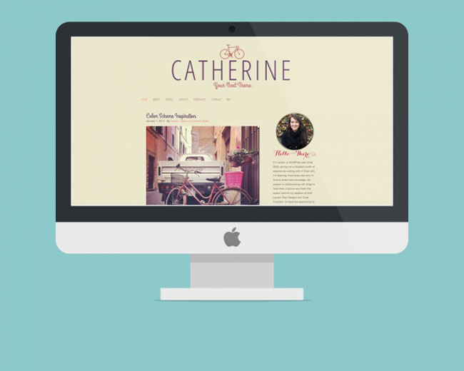Catherine, a colorful WordPress theme