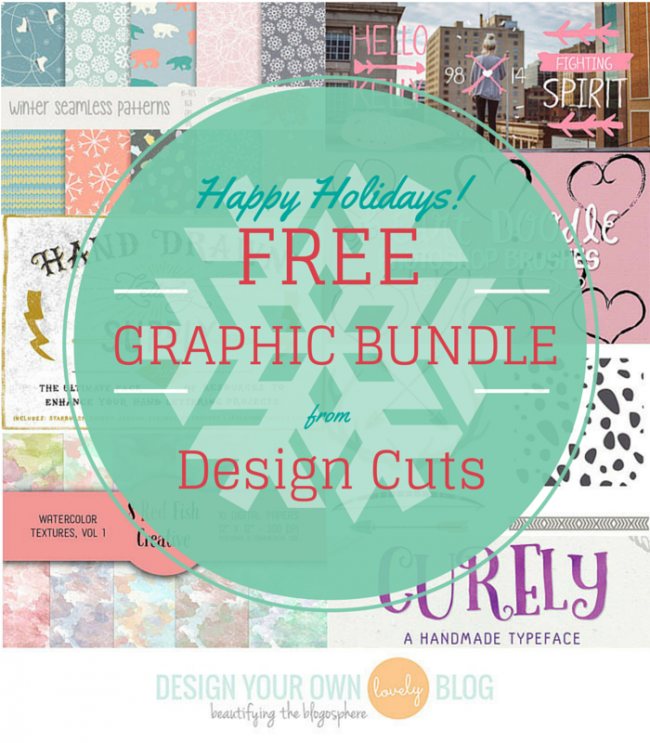 Happy Holidays! A free graphic design bundle from Design Cuts!
