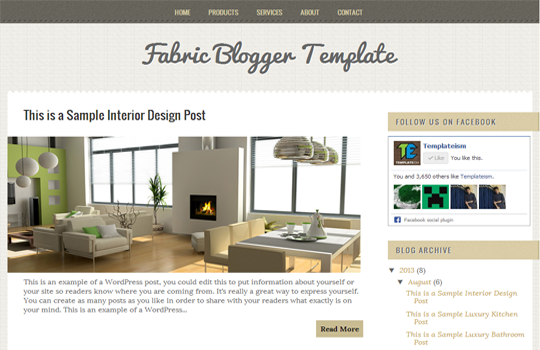 Fabric Theme free for Blogger