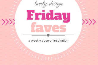 Friday Faves #9: lovely design inspiration – Think Pink! www.DesignYourOwnBlog.com
