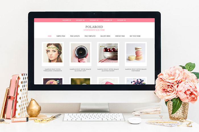 Polaroid Genesis WordPress Theme by Hunniemaid