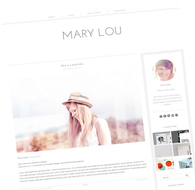 MaryLou responsive WordPress theme