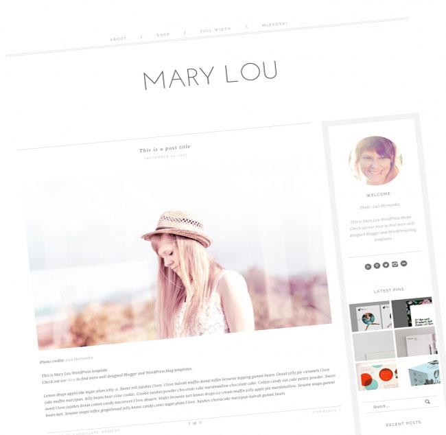 MaryLou responsive WordPress theme