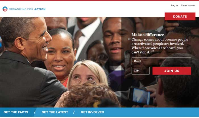 Case study on responsive web design site, BarackObama.com