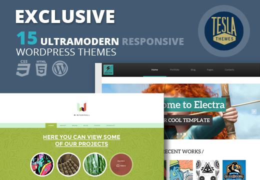 Tesla Themes bundle – 15 themes for $21