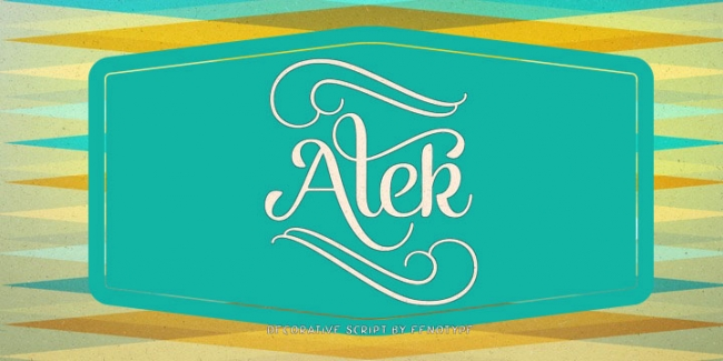 Alek Brush Script, one of 20 beautiful fat brush scripts at DesignYourOwnBlog.com