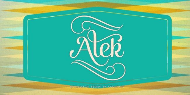 Alek Brush Script, one of 20 beautiful fat brush scripts at DesignYourOwnBlog.com