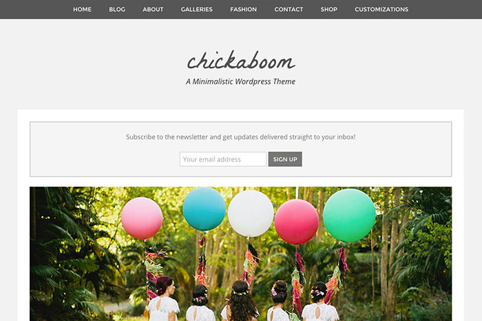 Chickaboom WordPress Theme by Angie Makes