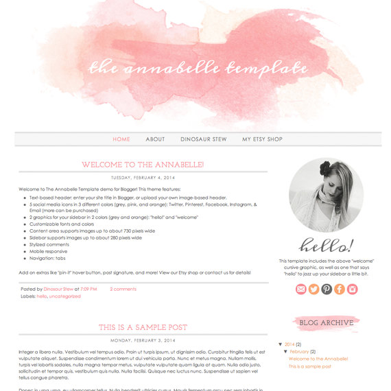 design your own blogger template free - the watercolor design trend and how to use it in your blog