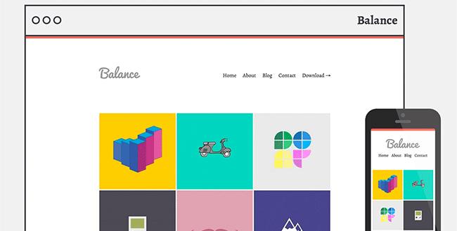 Free minimal, responsive WordPress portfolio theme
