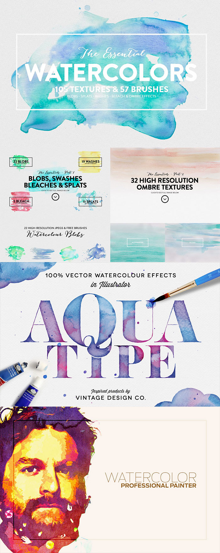 Beautiful Watercolor Textures and Effects. The Beautifully Artistic Designer's Kit (1000s of Creative Resources) for just $29.