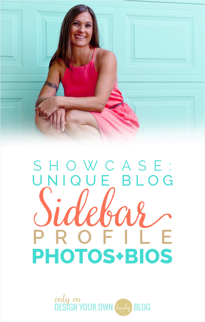 Showcase: Unique Blogs Sidebar Profile Photos + Bios. See the showcase and how to at DesignYourOwnBlog.com