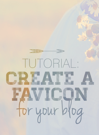 Tutorial: Create a Favicon for your Blog! @ www.designyourownblog.com