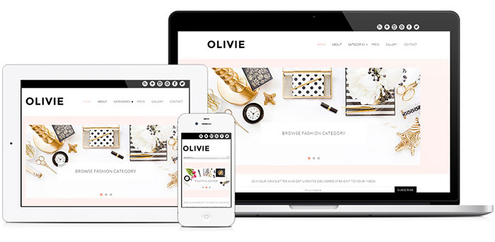 Olivie WordPress Theme by BluChic