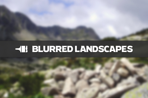 Blurred Landscape Backgrounds from Creative Market