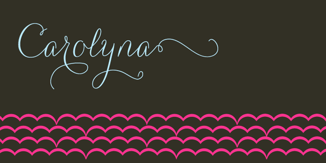 Carolyna, a hand-written Calligraphy font. See more at http://DesignYourOwnBlog.com